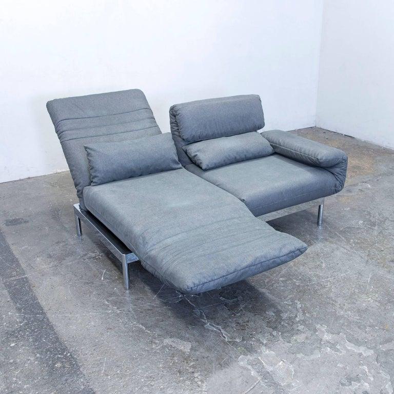 grey colored original rolf benz plura designer sofa in a minimalistic and modern design - Couch Grau Stoff