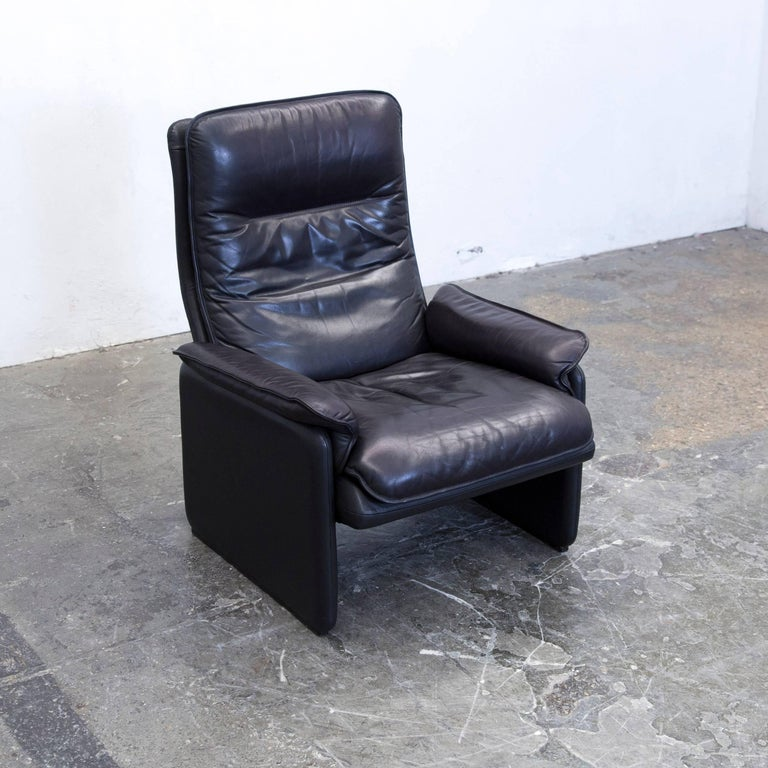 De Sede Designer Armchair Leather Aubergine Black ...