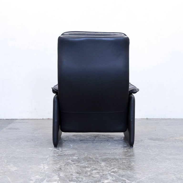 de sede designer armchair leather aubergine black one seat couch modern for sale at 1stdibs. Black Bedroom Furniture Sets. Home Design Ideas