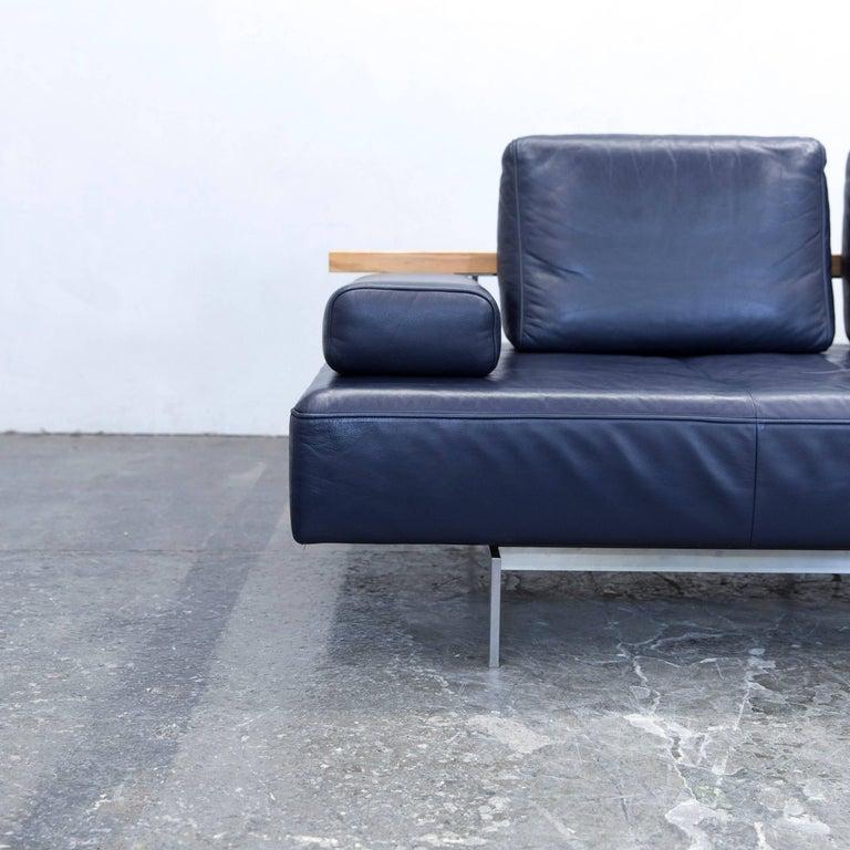 rolf benz dono designer sofa aubergine leather three seat. Black Bedroom Furniture Sets. Home Design Ideas