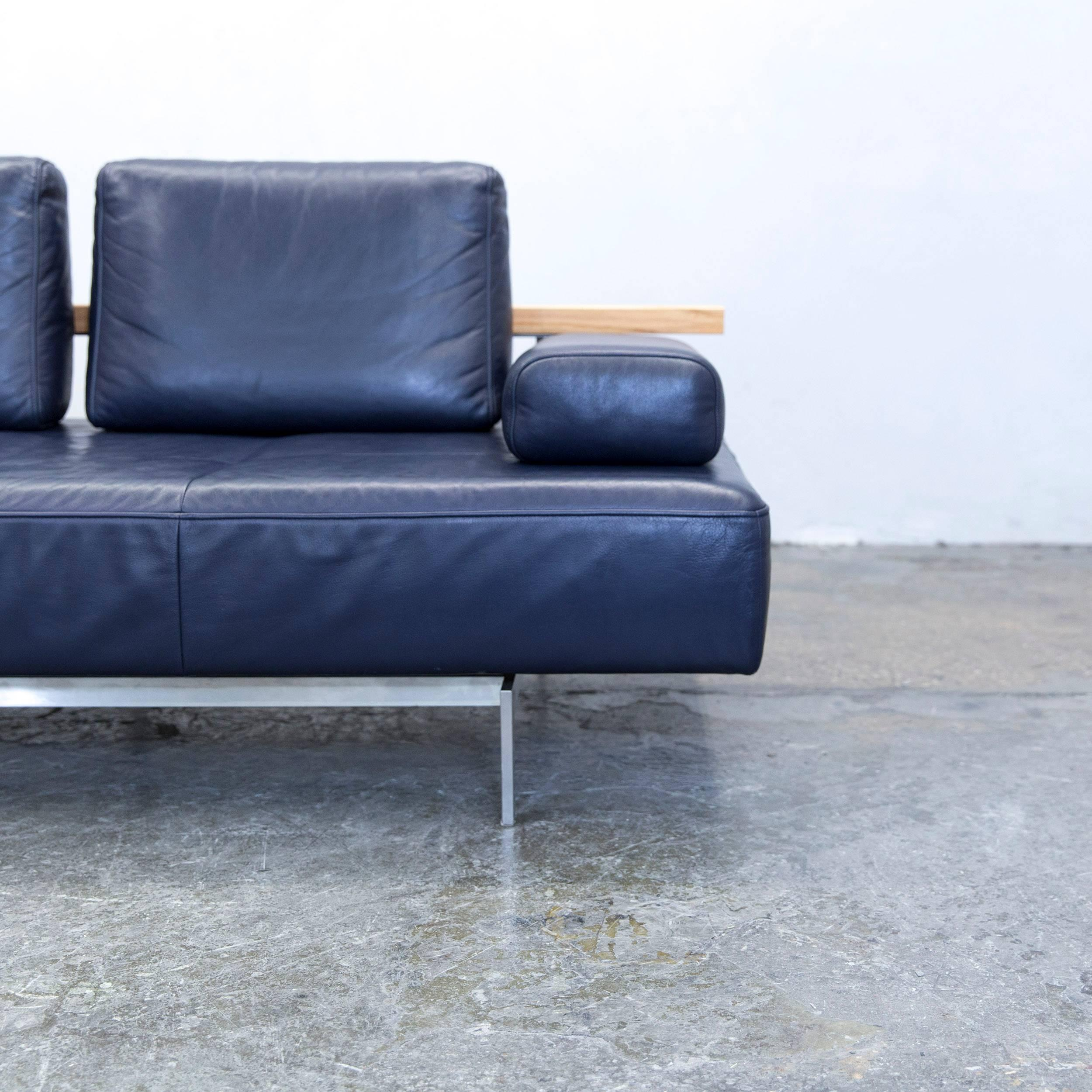 Rolf Benz Dono Designer Sofa Aubergine Leather Three Seat Couch Modern At  1stdibs