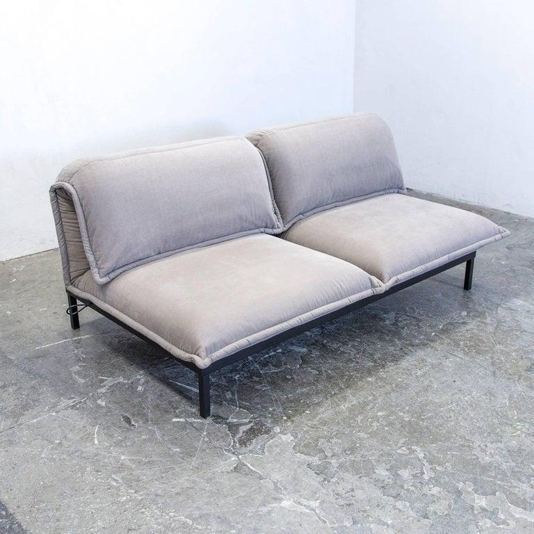 rolf benz nova designer sofa grey fabric two seat function couch modern for sale at 1stdibs. Black Bedroom Furniture Sets. Home Design Ideas