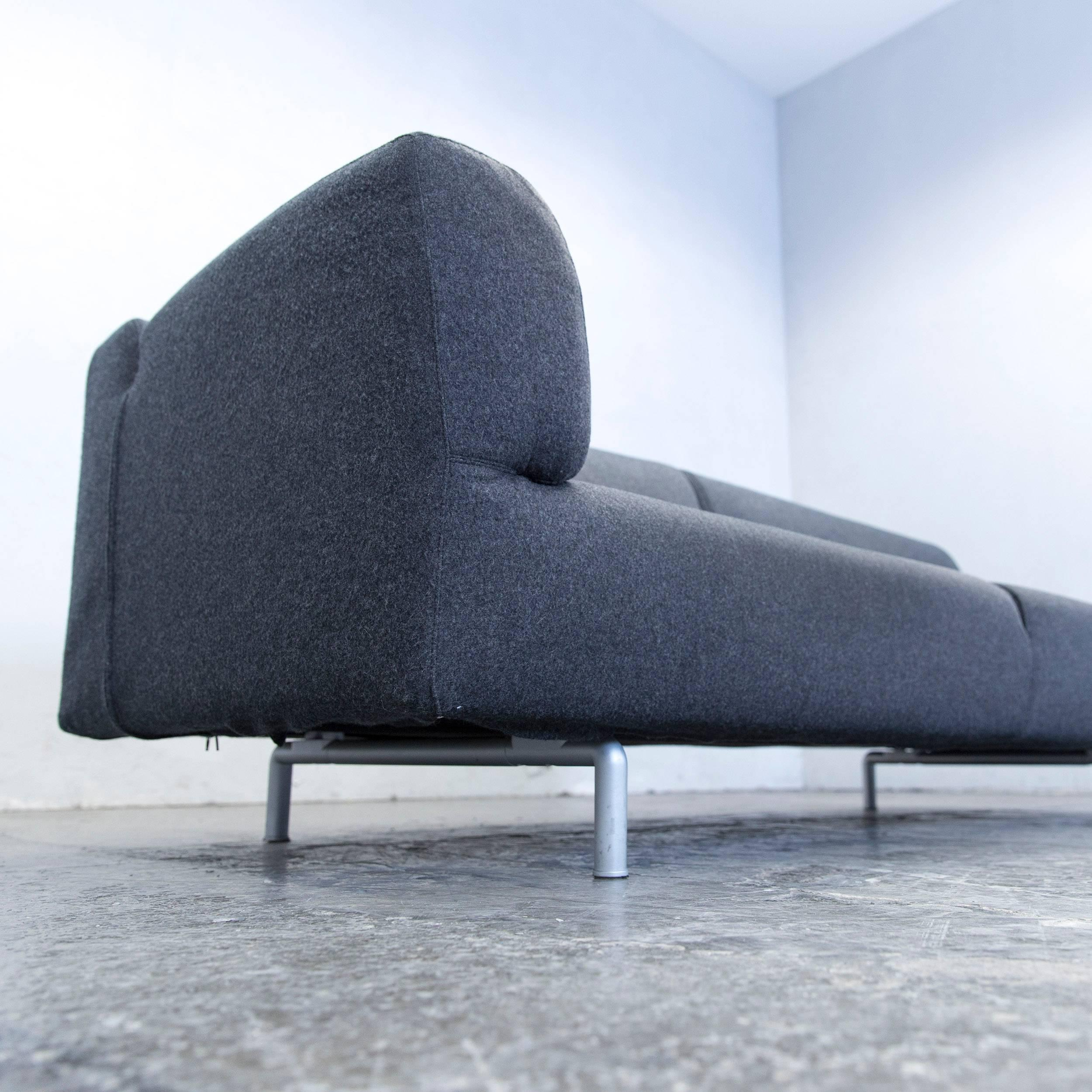 Contemporary Cassina Met Designer Sofa Anthrazit Grey Three Seat Couch  Modern For Sale