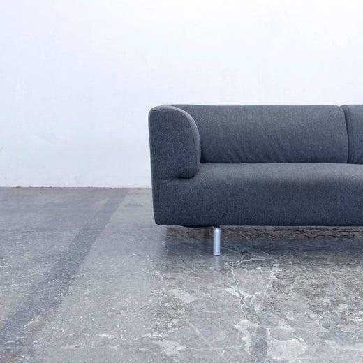 Cassina Met Designer Sofa Anthrazit Grey Three-Seat Couch Modern at ...