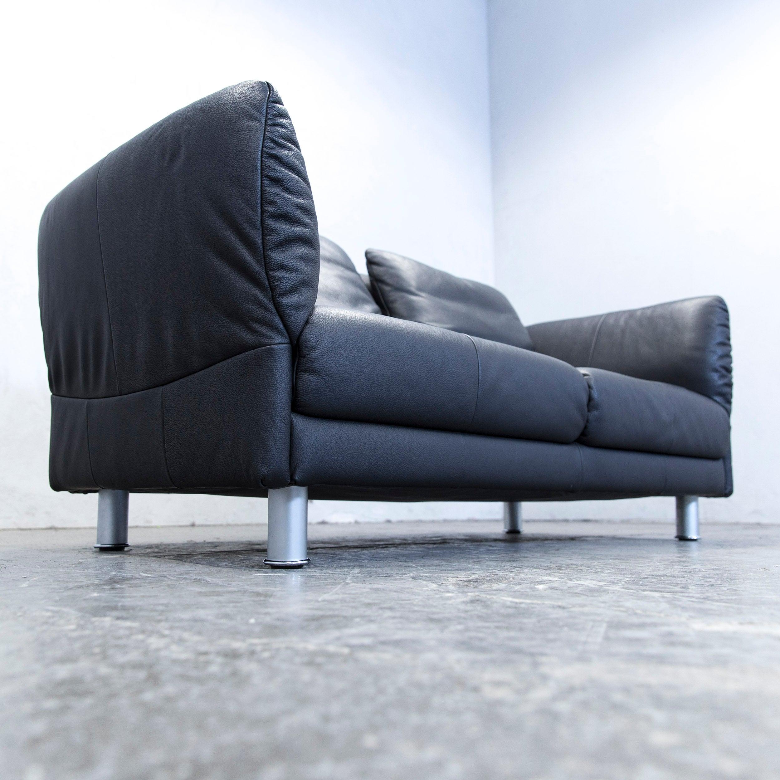 Attraktiv Rolf Benz Designer Sofa Leder Schwarz Zweisitzer Couch Modern Echtleder  3937Sofa Sessel Gebraucht Kaufen K Ln