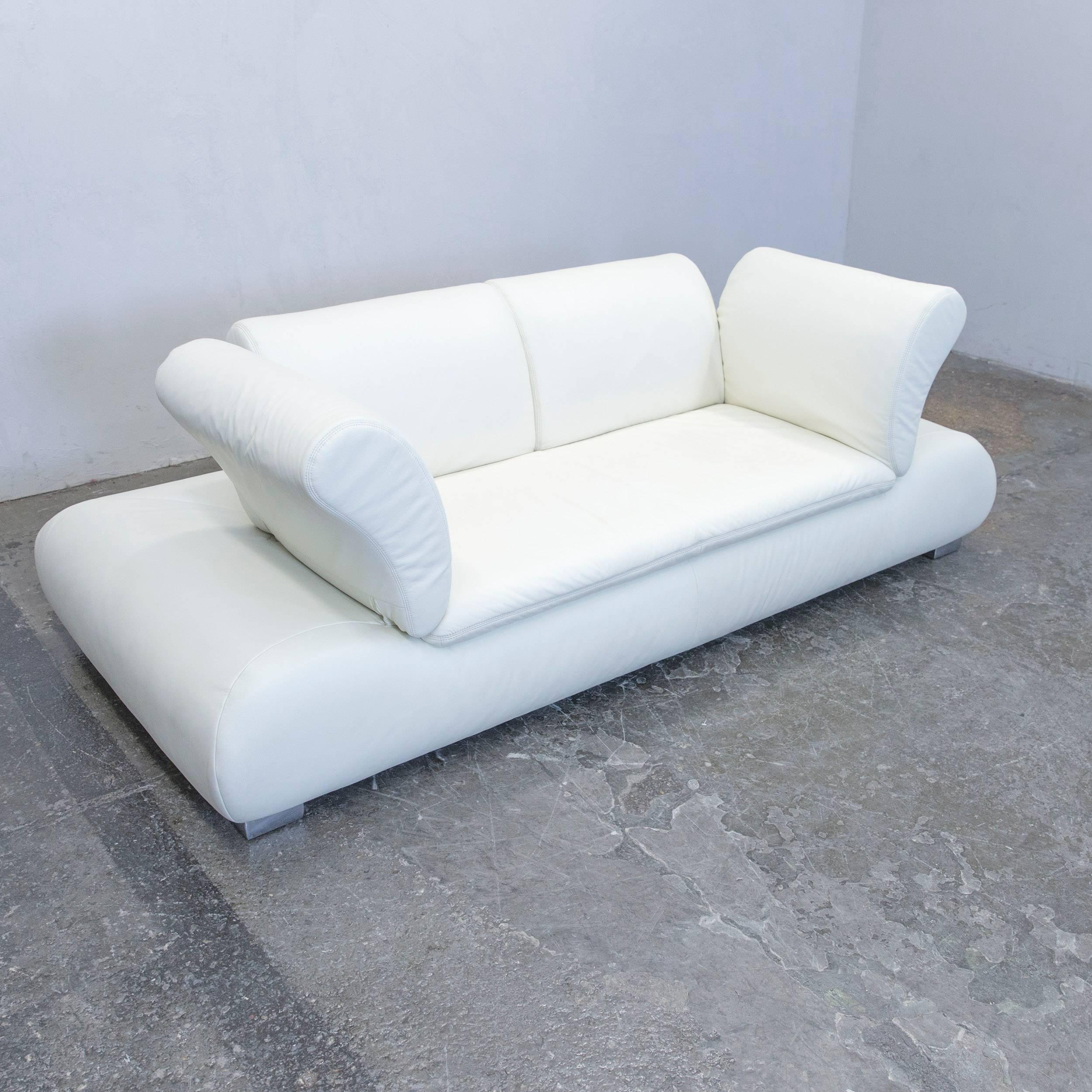 German Koinor Diva Designer Leather Sofa White Function Two Seat Modern For  Sale