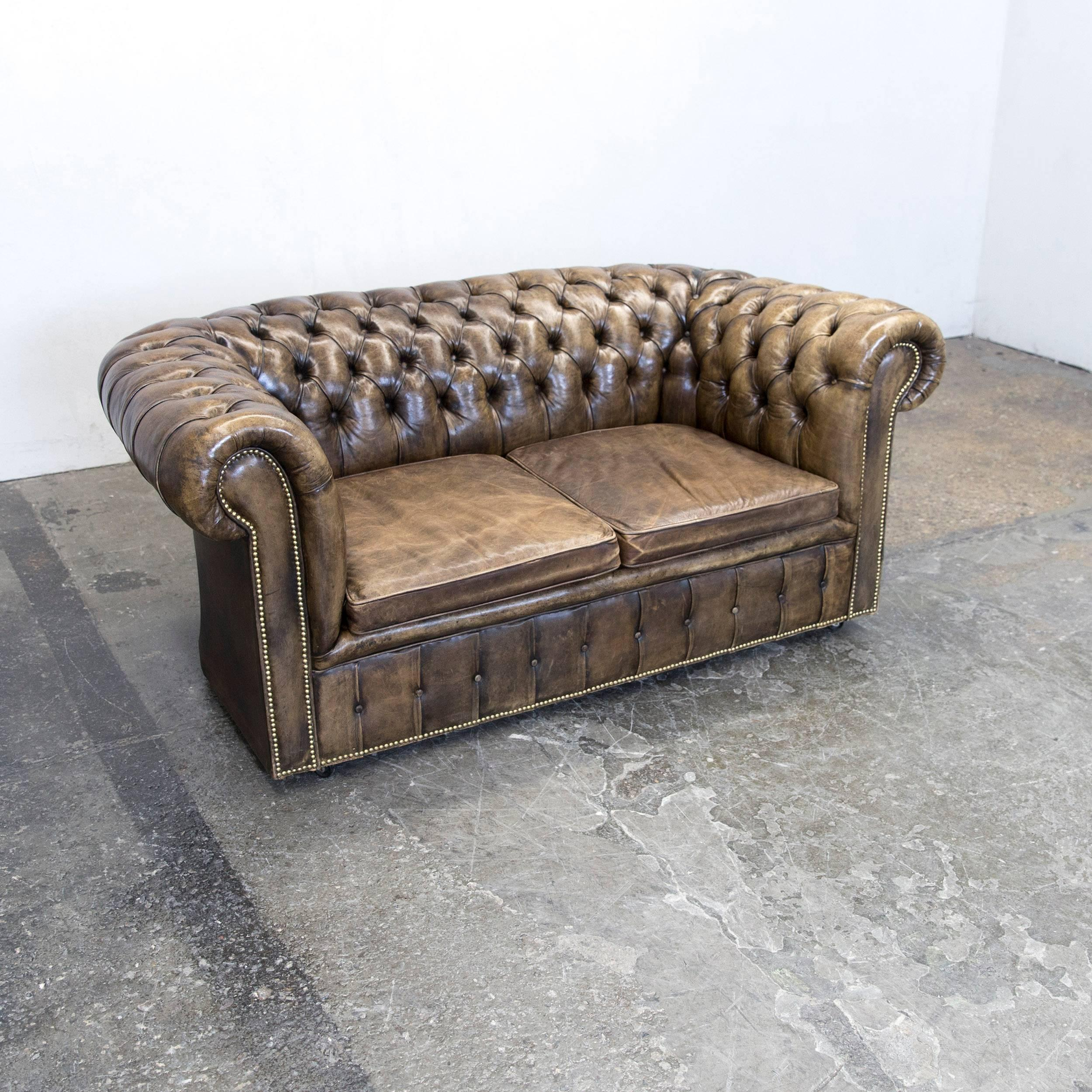 Fantastisch Brown Colored Chesterfield Leather Sofa, In A Vintage Design, Made For Pure  Comfort And