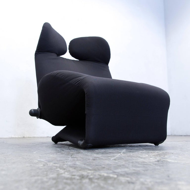 cassina wink designer armchair fabric black one seat couch function modern for sale at 1stdibs. Black Bedroom Furniture Sets. Home Design Ideas