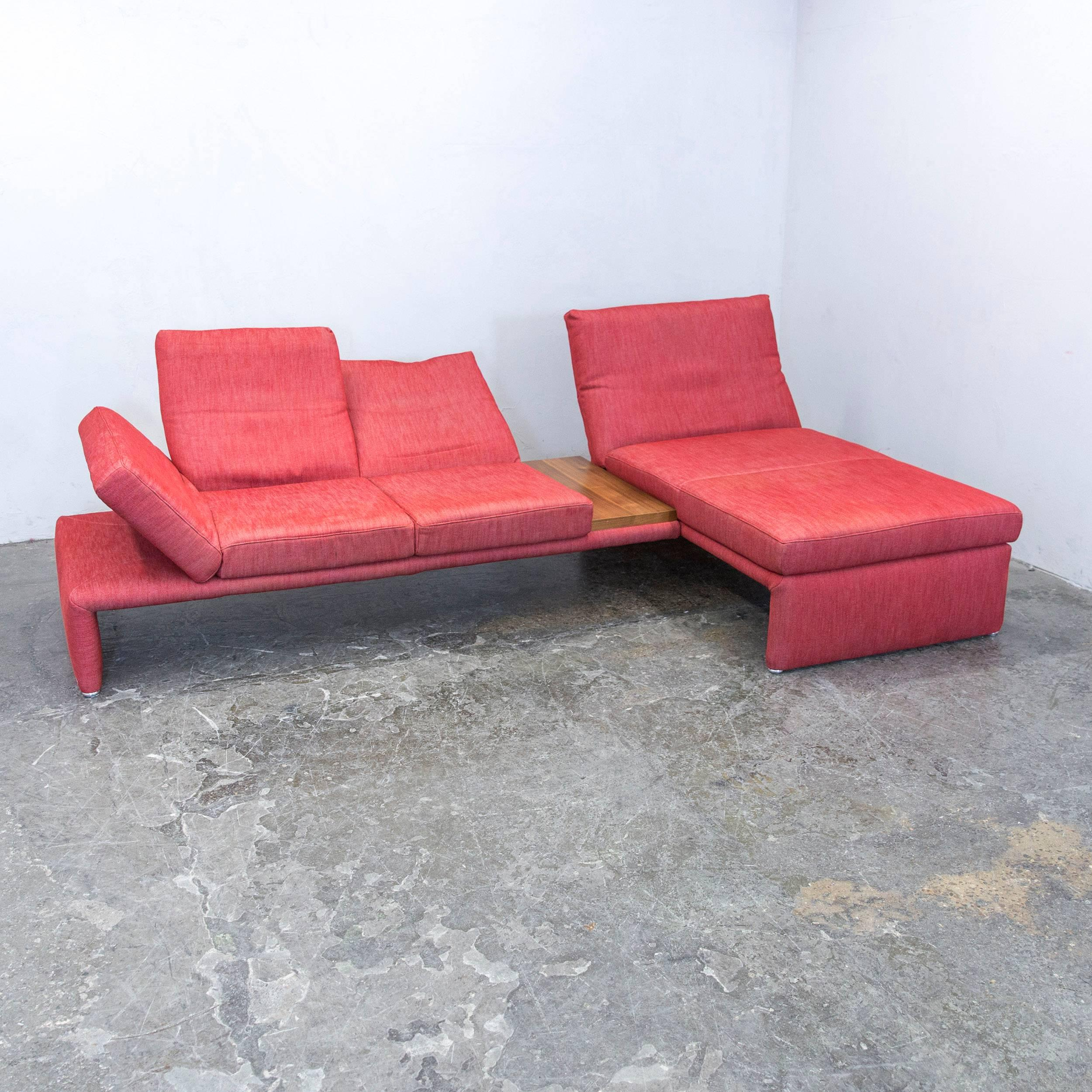 Red Colored Original Koinor Raoul Designer Sofa, In A Minimalistic And  Modern Design, With