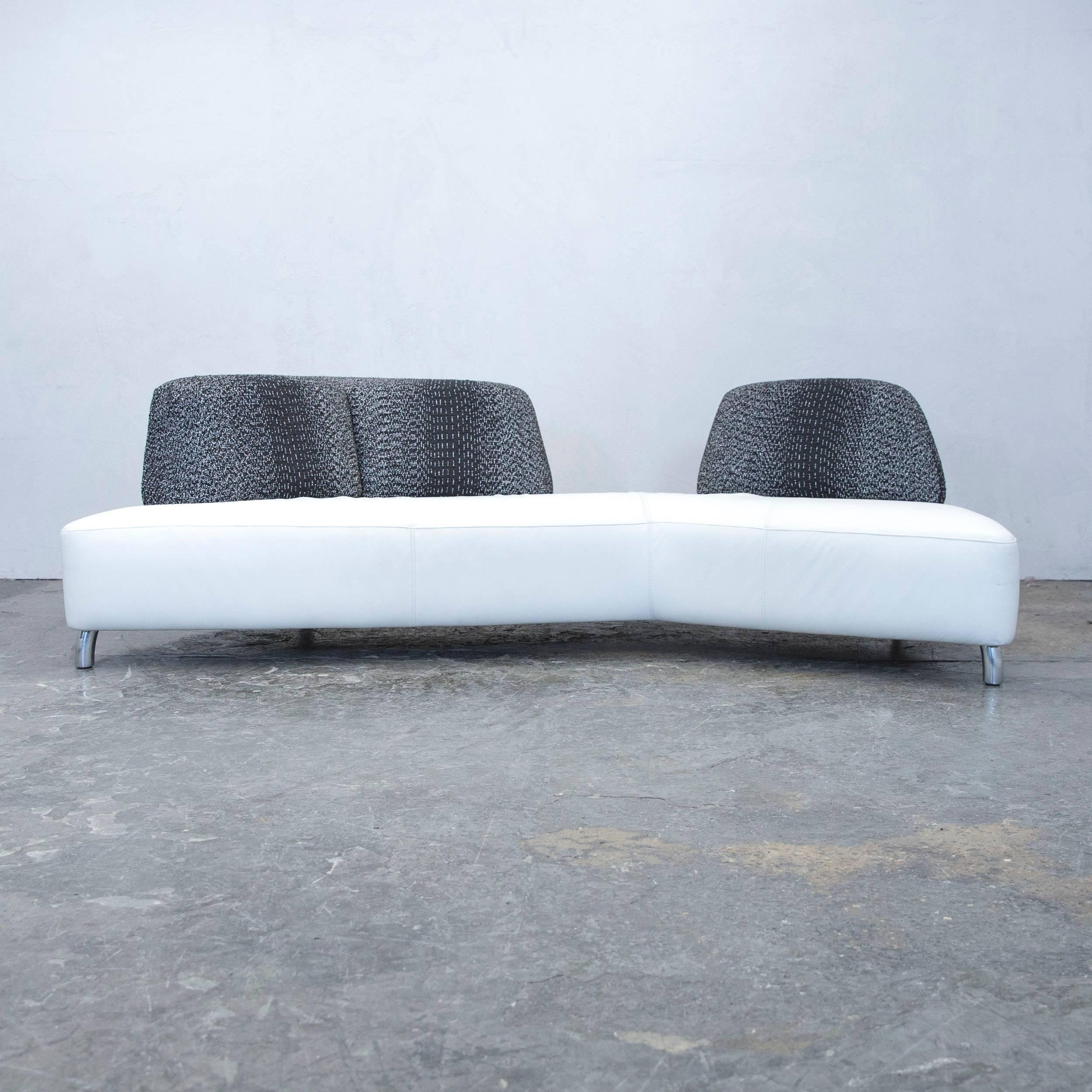 Amazing White And Black Colored Original Leolux Designer Leather Sofa Set  In A And Modern With Couch Wei.