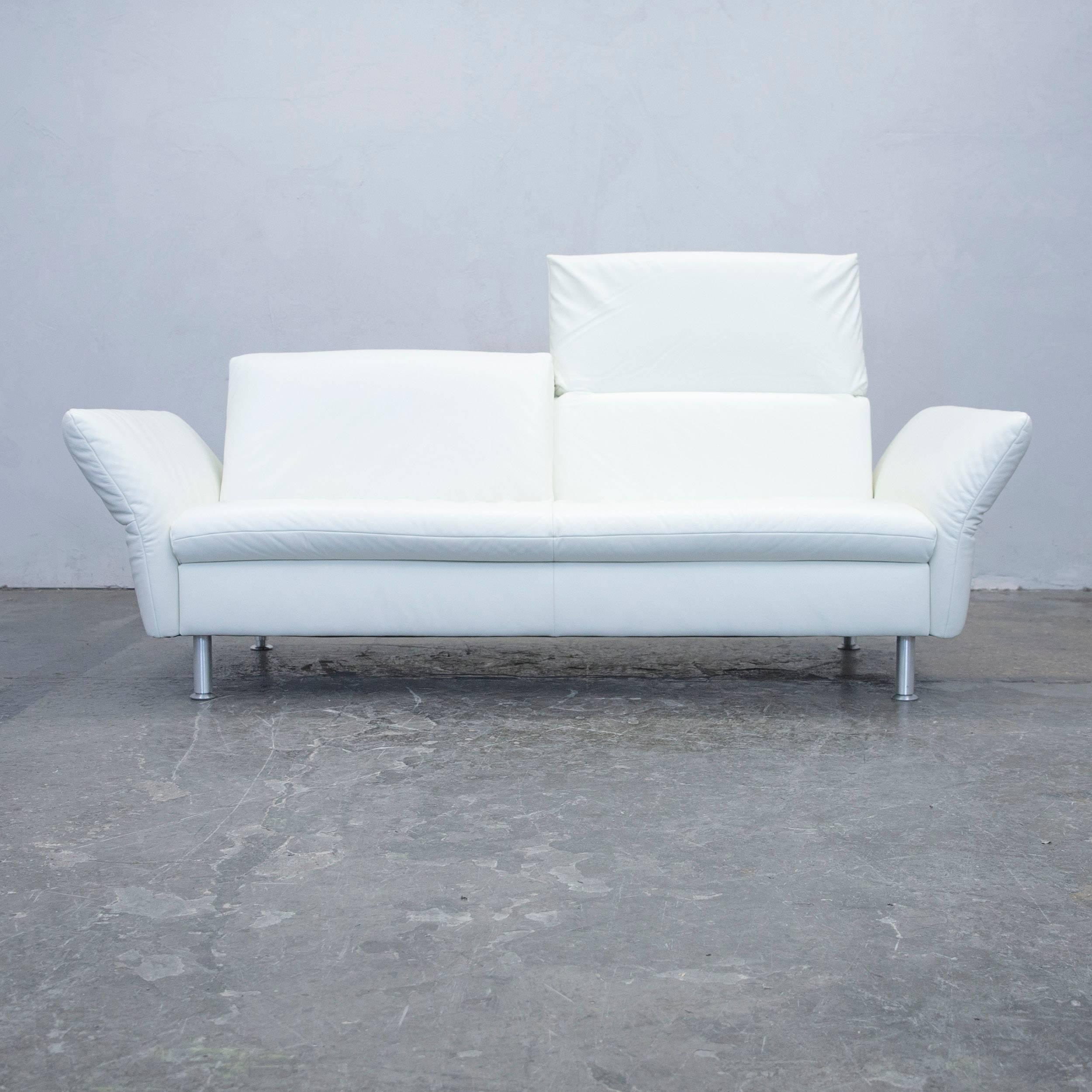 White Colored Original Koinor Designer Leather Sofa Set, In A Minimalistic  And Modern Design,