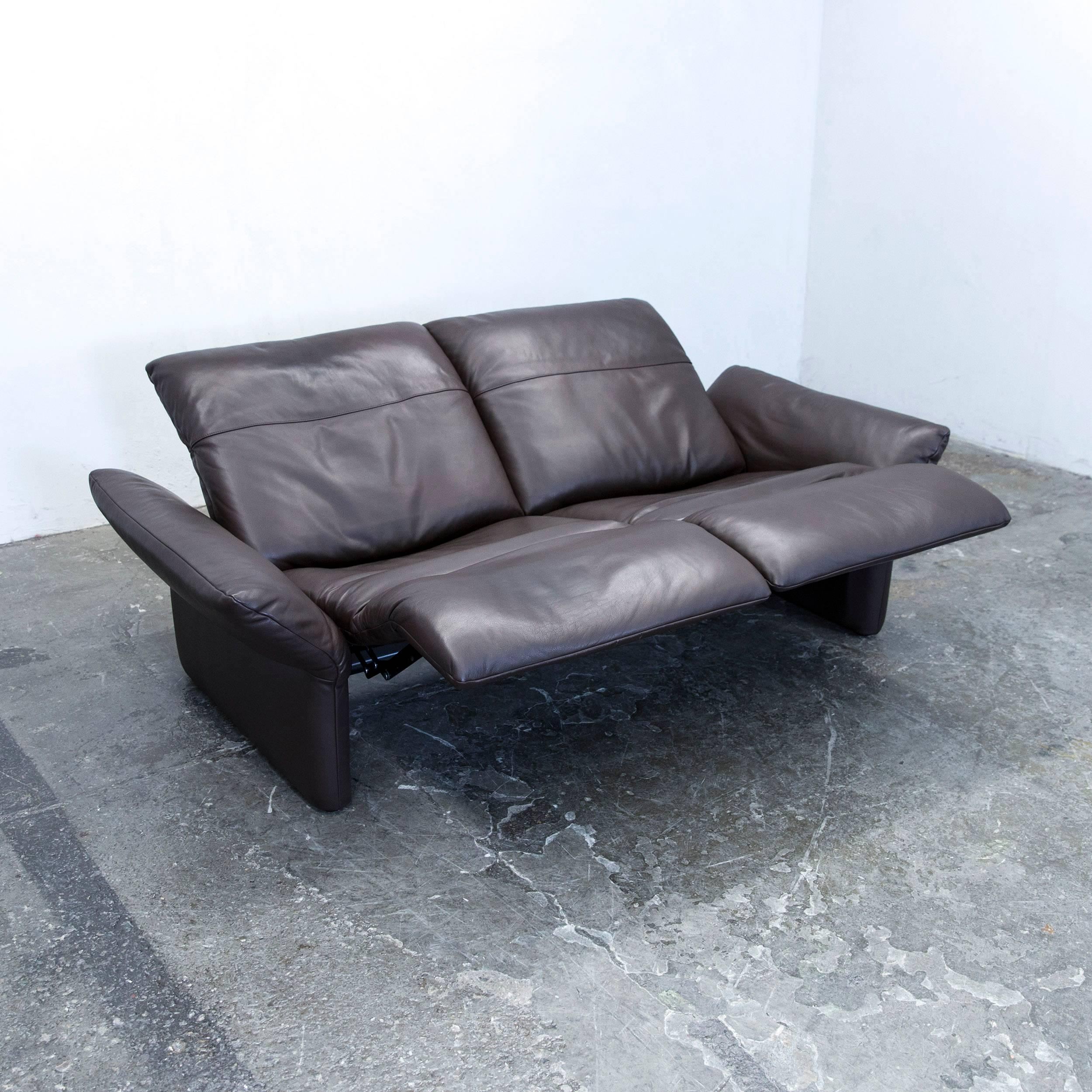 Entzuckend Koinor Elena Designer Sofa Leather Brown Two Seat Couch Function At 1stdibs