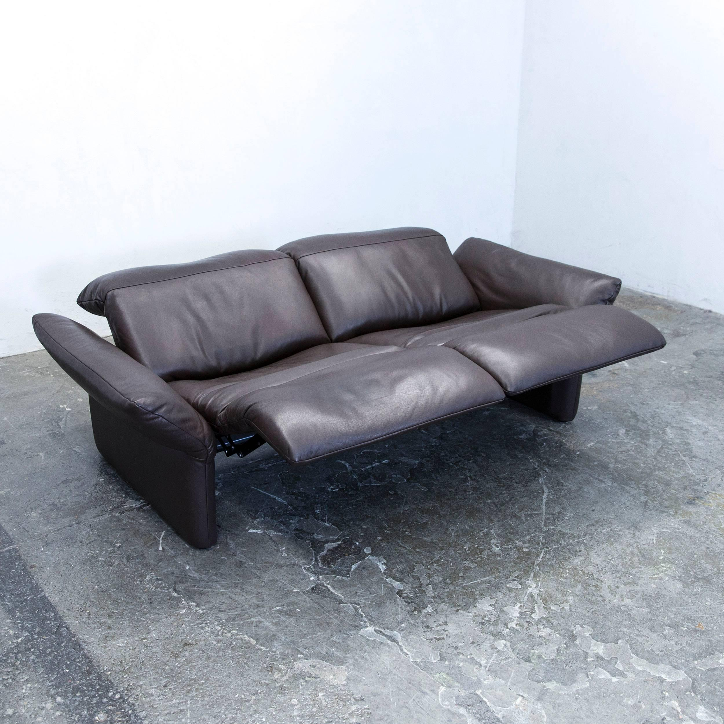 Affordable Koinor Elena Designer Sofa Leather Brown Twoseat Couch Function  In Good Condition For Sale With Sofalufer Braun With Couchecke Leder