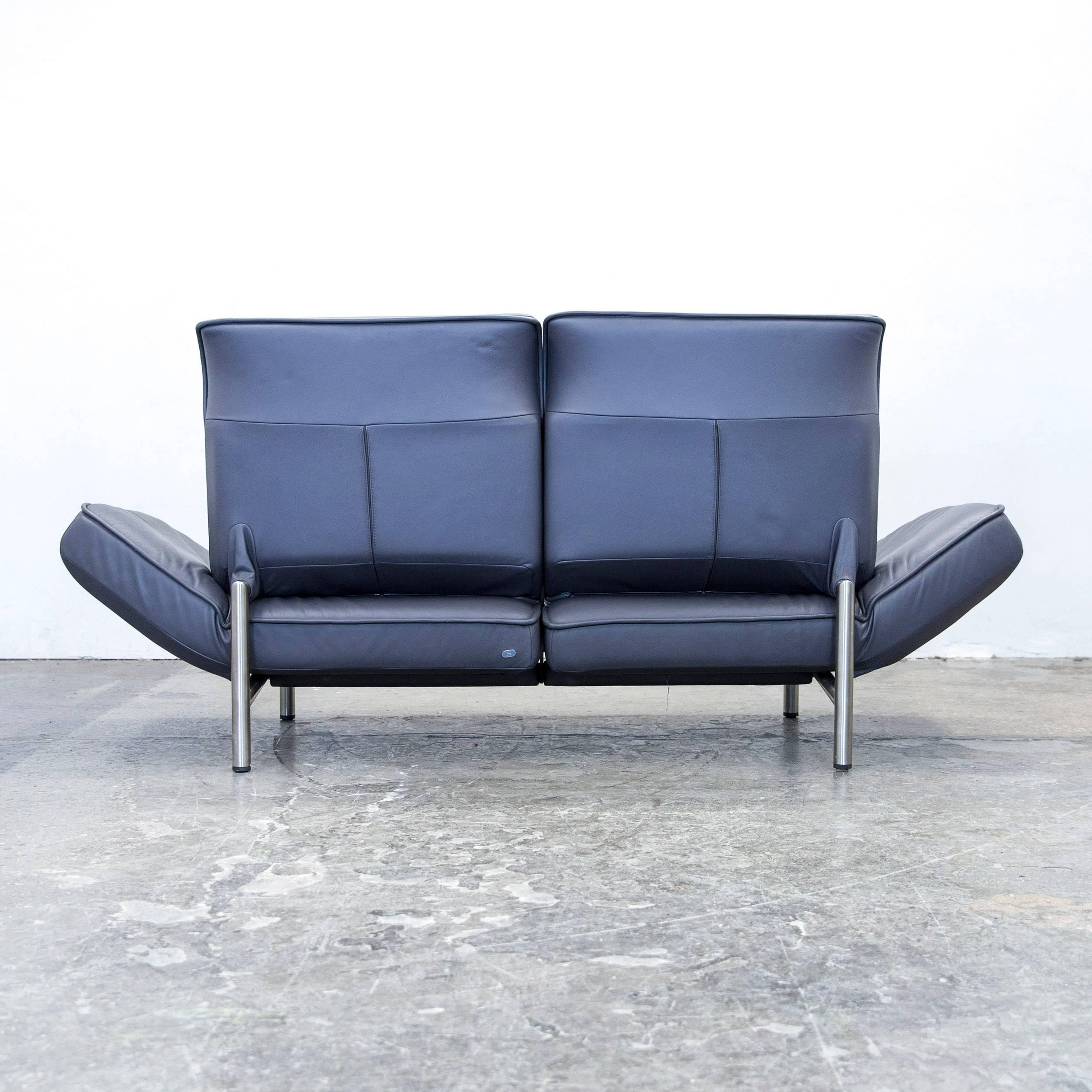 De Sede DS 450 Designer Leather Sofa Anthrazit Relax Function Two Seat  Modern For Sale