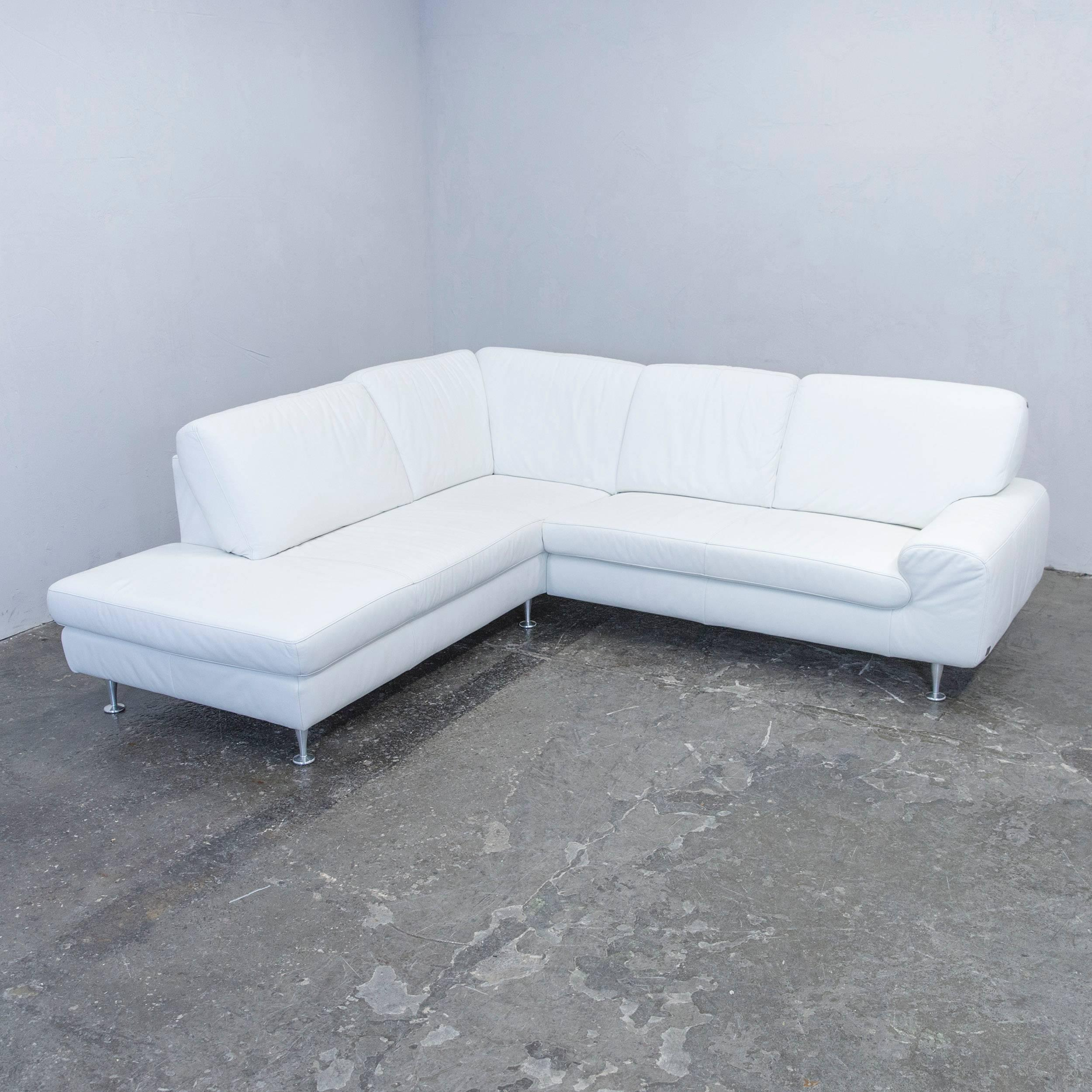 Beautiful Willi Schillig Designer Corner Sofa Leather White Couch Modern  With Sofa Wei