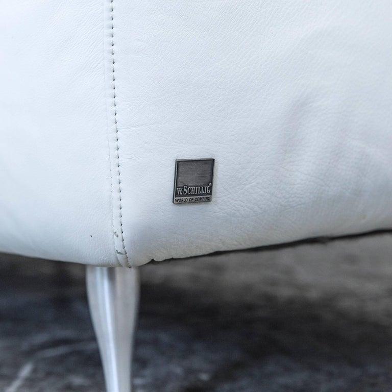 willi schillig designer corner sofa leather white couch modern for sale at 1stdibs. Black Bedroom Furniture Sets. Home Design Ideas
