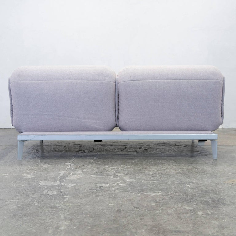 Rolf Benz Nova Designer Sofa Grey Rose Lilac Fabric Two Seat Function Couch For Sale At 1stdibs