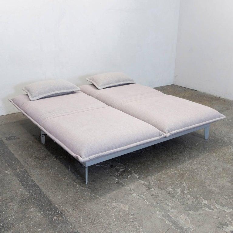 Rolf Benz Nova Designer Sofa Grey Rose Lilac Fabric Two