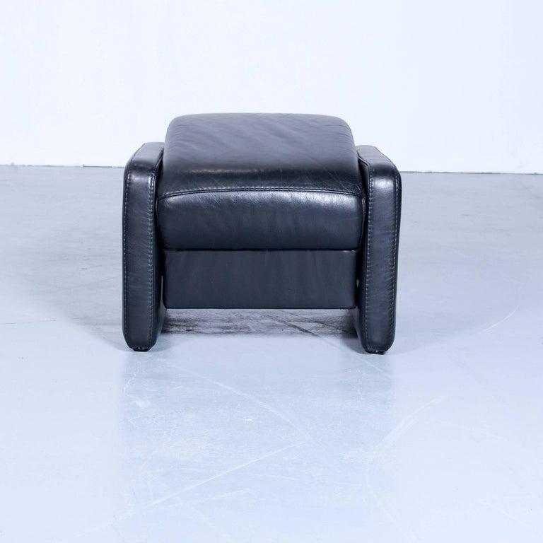 designer leather foot stool pouf footstool black function. Black Bedroom Furniture Sets. Home Design Ideas