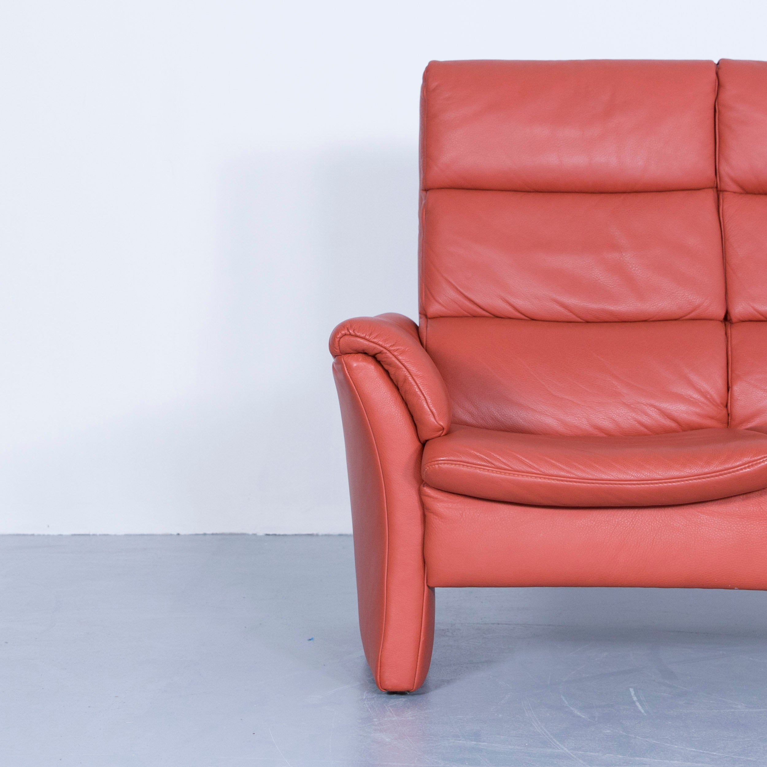 Innenarchitektur Himolla Zerostress Ideen Von Two-seat Sofa Leather Orange Relax One Seat