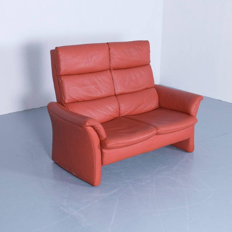 Himolla Zerostress Two Seat Sofa Leather Orange Relax e