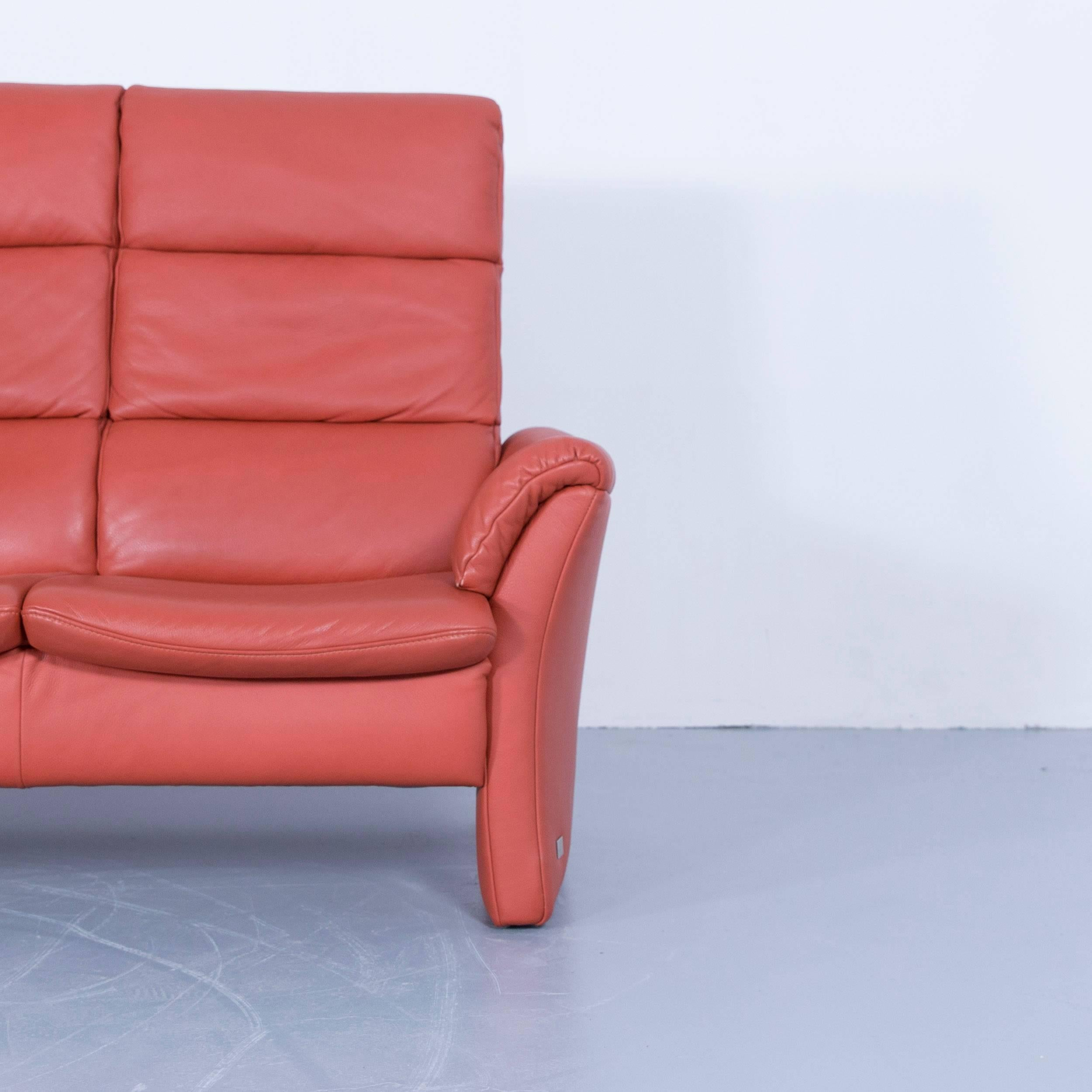 Großartig Himolla Zerostress Sammlung Von Three-seat Sofa Leather Orange Relax One Seat