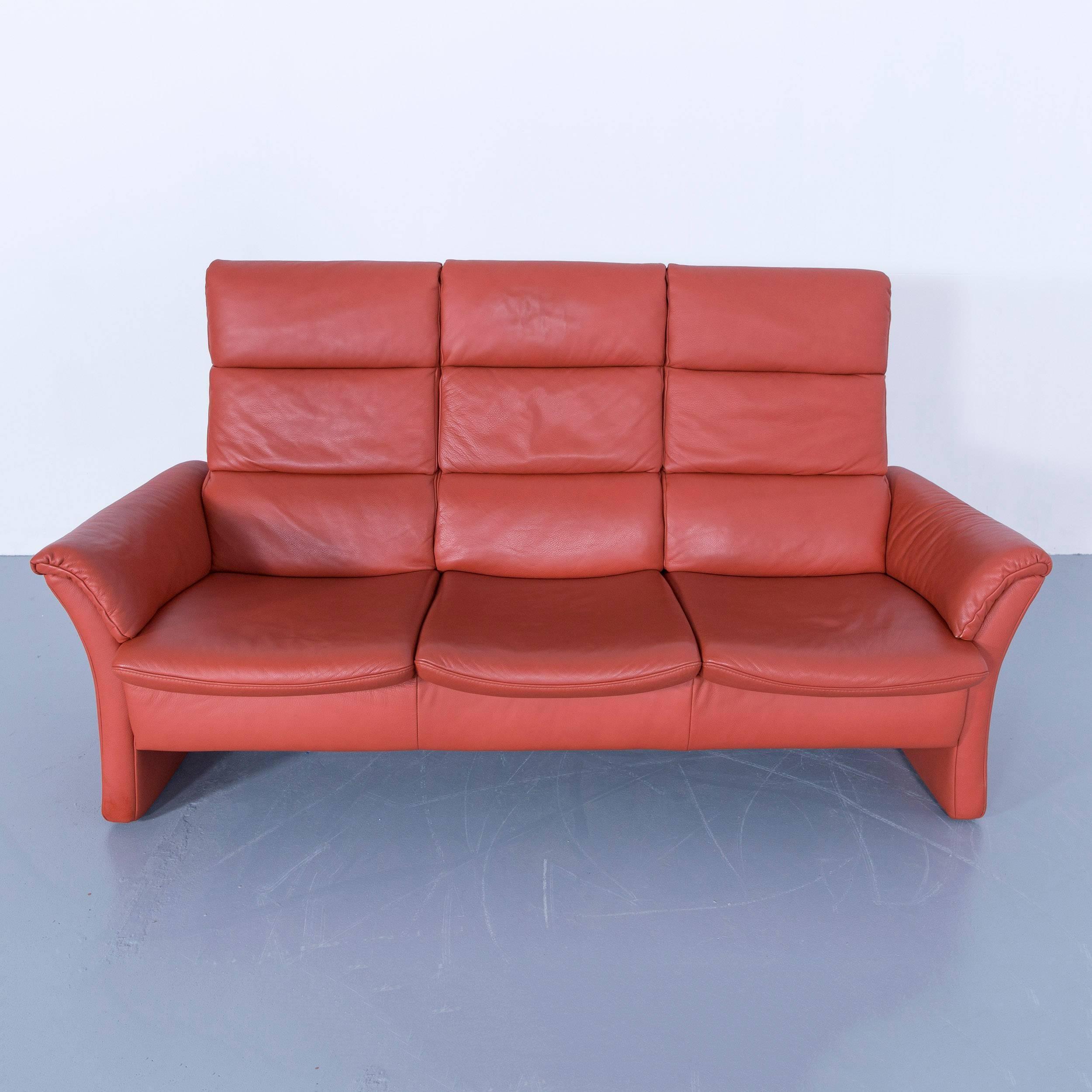 Ansprechend Himolla Sofa Sammlung Von Zerostress Three-seat Leather Orange Relax One Seat