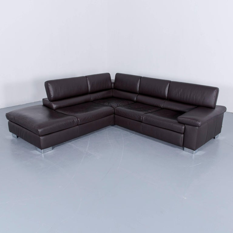 ewald schillig courage corner couch leather brown couch modern at 1stdibs. Black Bedroom Furniture Sets. Home Design Ideas