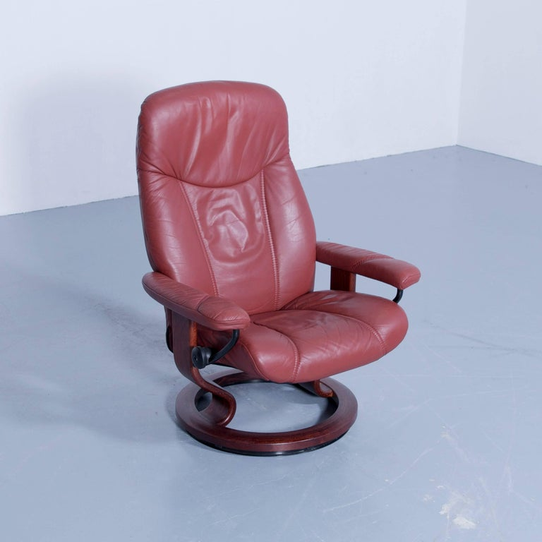 Stressless Consul M Chair Set Incl Stool Leather Red