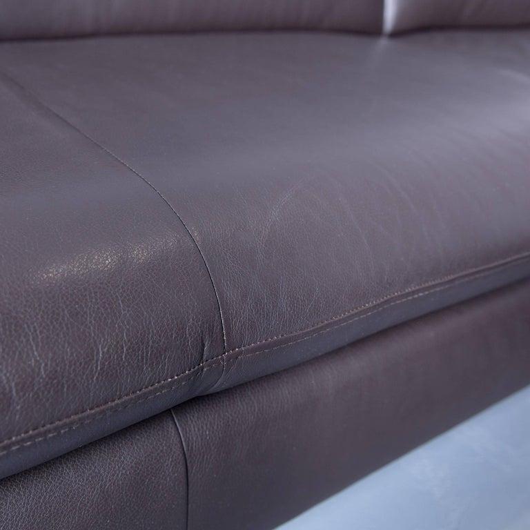 willi schillig loop designer corner sofa set leather brown function couch modern at 1stdibs. Black Bedroom Furniture Sets. Home Design Ideas