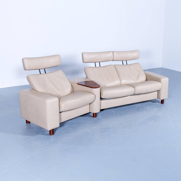 Ekornes Stressless Space Relax Sofa Beige Cr 232 Me Leather Tv