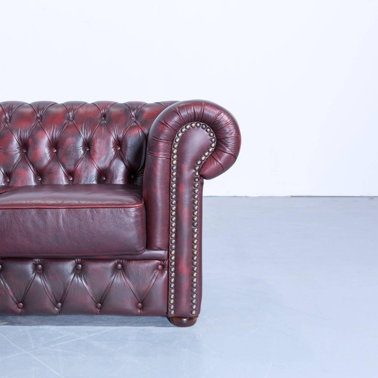 Corner Chesterfield Sofa Sale: Rochester Chesterfield Corner Sofa And Footstool Oxblood