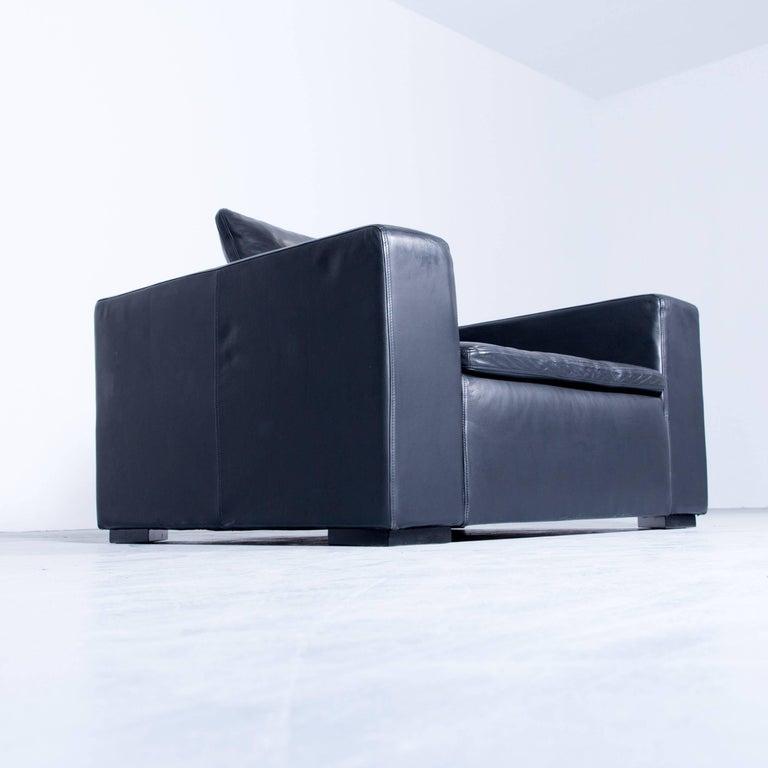 Boconcept Designer Armchair Black Leather Modern Cubic At