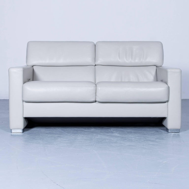 Bruhl And Sippold Designer Leather Sofa Creme Beige Function Two