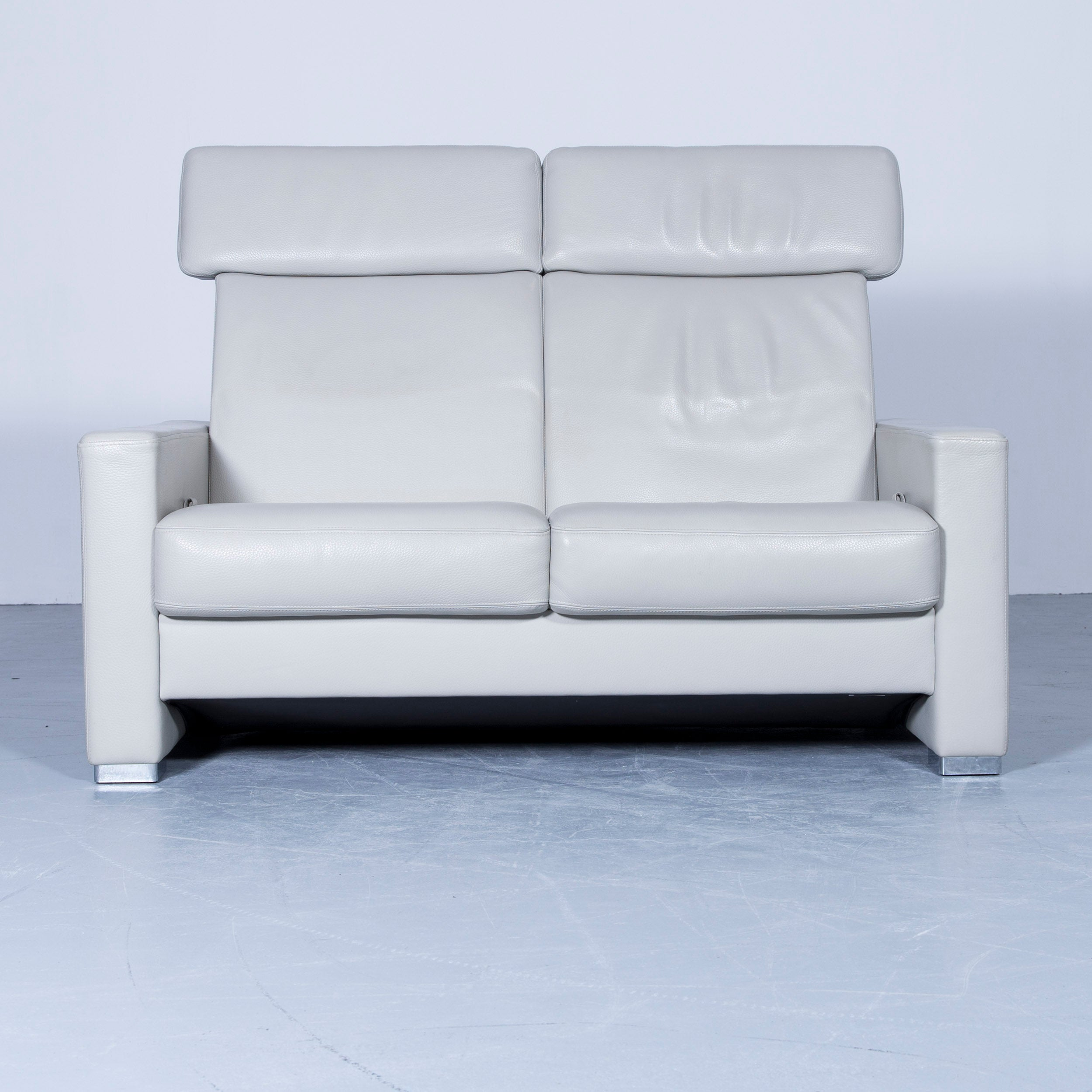 Brühl And Sippold Designer Leather Sofa Crème Beige Function Two Seat Modern  For Sale At 1stdibs