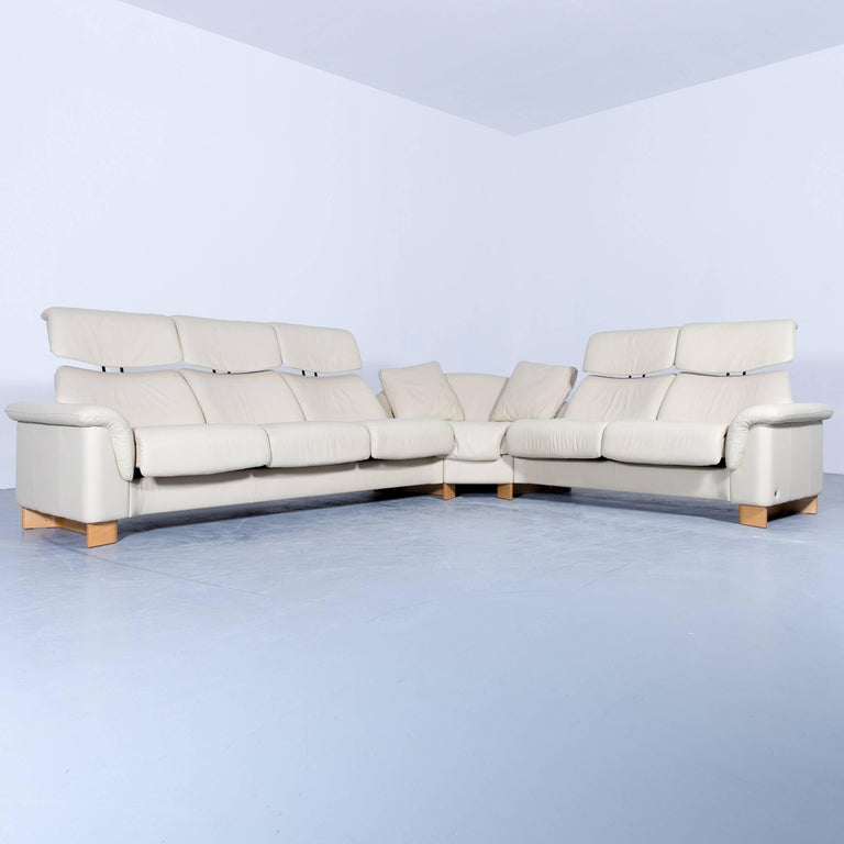Bel Furniture White Leather Couch