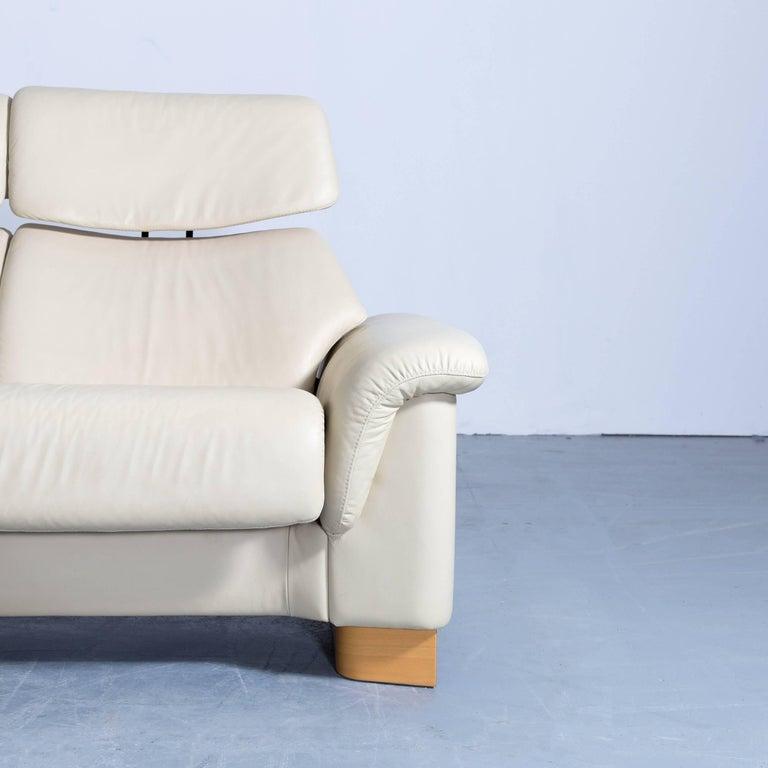 Ekornes Stressless Paradise Designer Corner Sofa Creme Beige Leather Relax Couch At 1stdibs