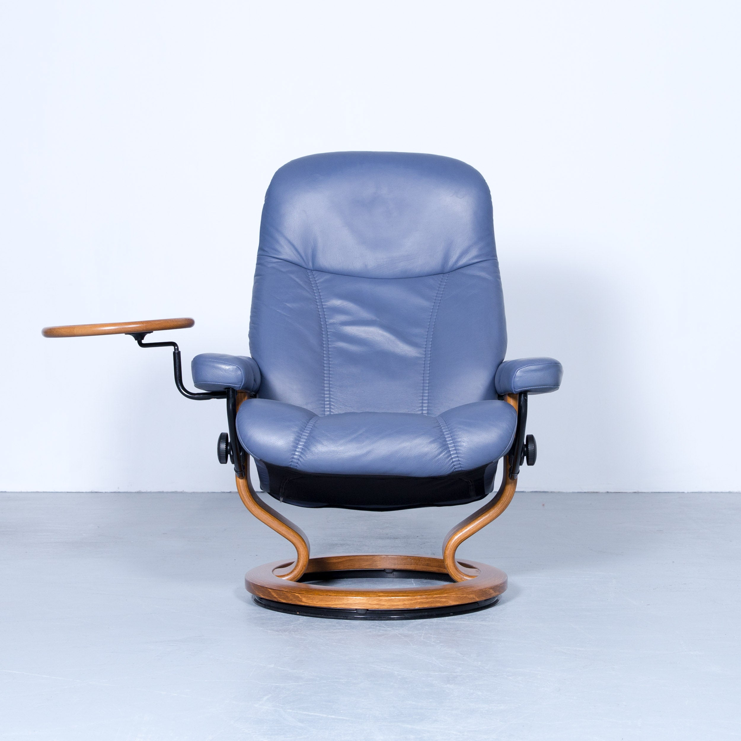 Stressless Consul Relax Armchair Light Blue Leather Relax Function