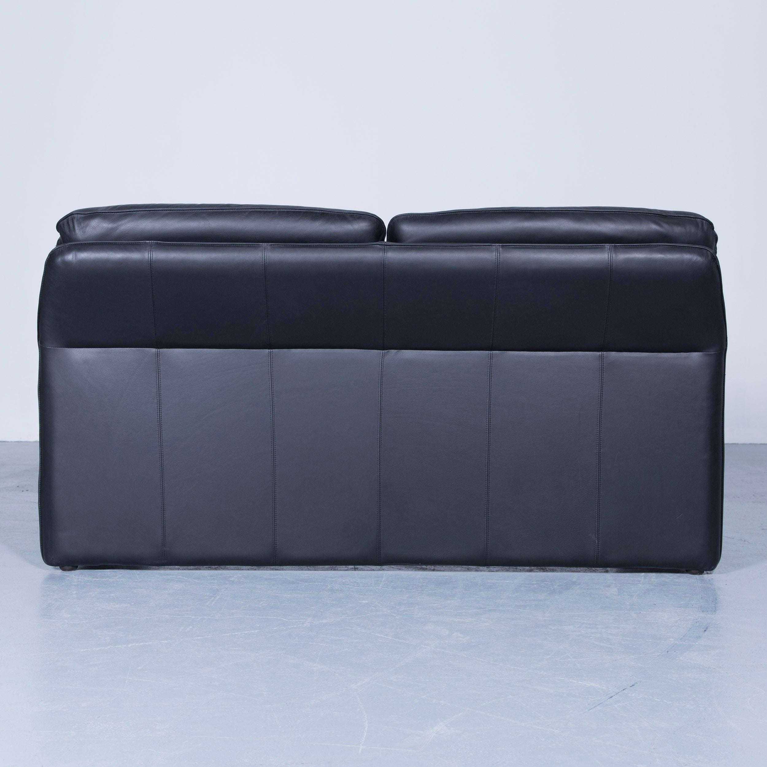 Laauser Atlanta Designer Sofa Leather Black Two-Seat Couch ...