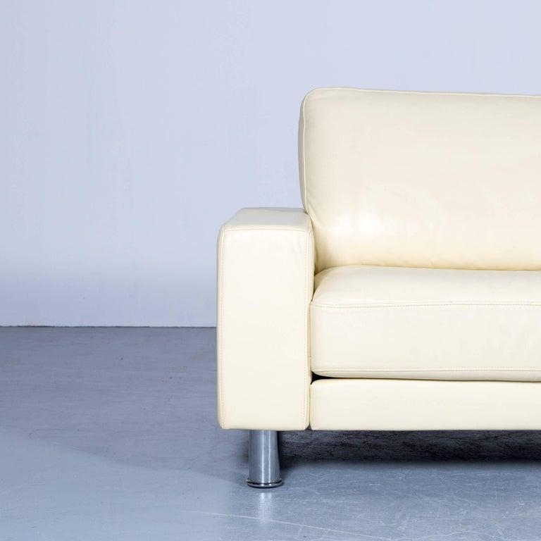 Rolf Benz Designer Corner Sofa Leather Cr Me Beige Couch Modern For Sale At 1stdibs