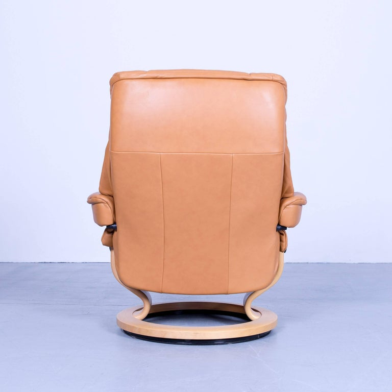Stressless Mayfair Relax Armchair Orange Ocher Brown Leather Relax