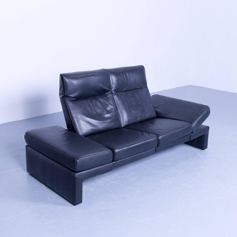 Original Mondo Designer Sofa Black Three Seat Couch Modern
