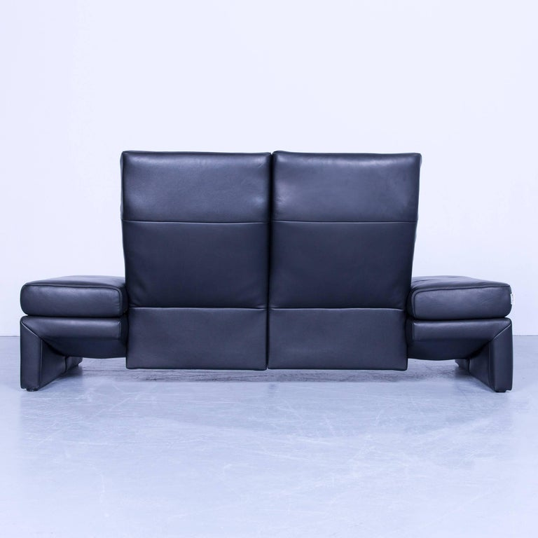 Original Mondo Designer Sofa Black Three Seat Couch Modern Recliner Function At 1stdibs