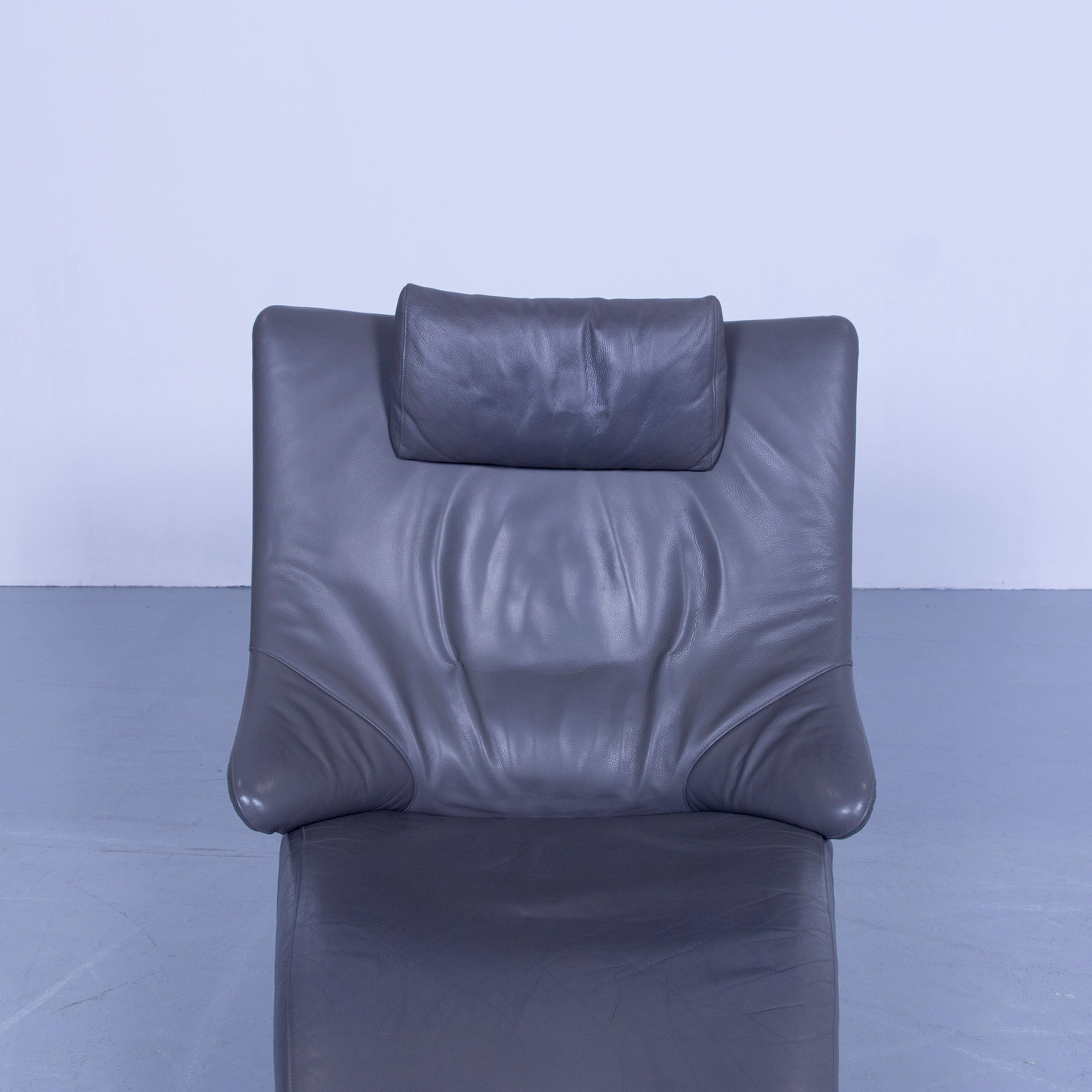 WK Wohnen Solo 699 Designer Chair Leather Grey Function Couch Modern ...