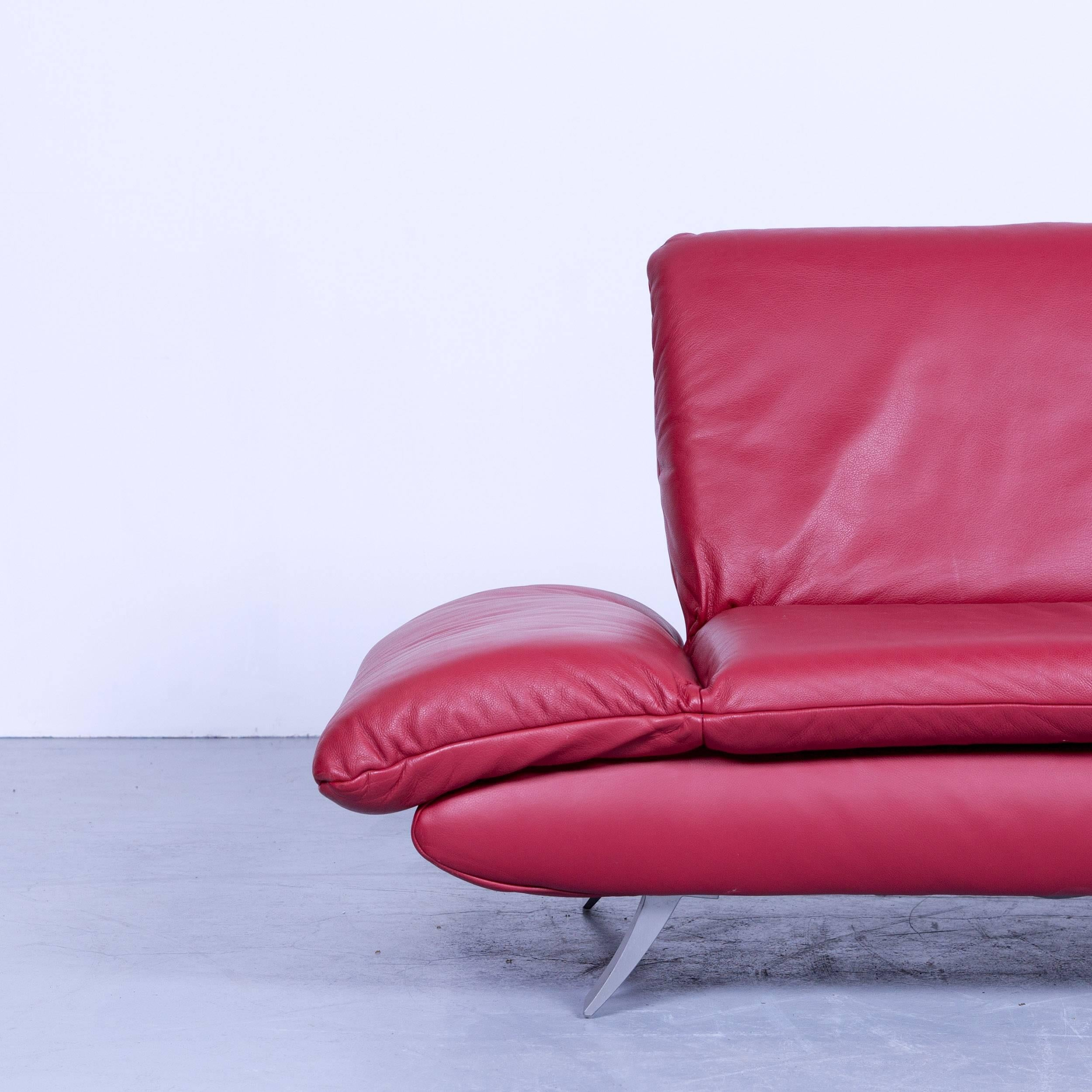 Koinor Rossini Designer Two Seat Sofa Leather Red Function Modern Two Seat  In A