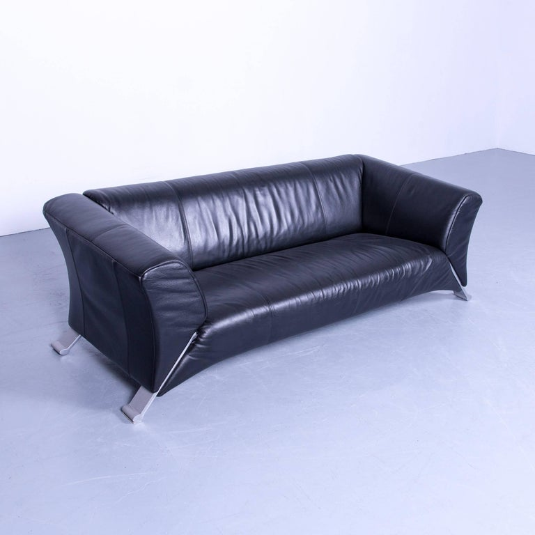 Set Of Two Rolf Benz 322 Designer Sofa Black Three And Two