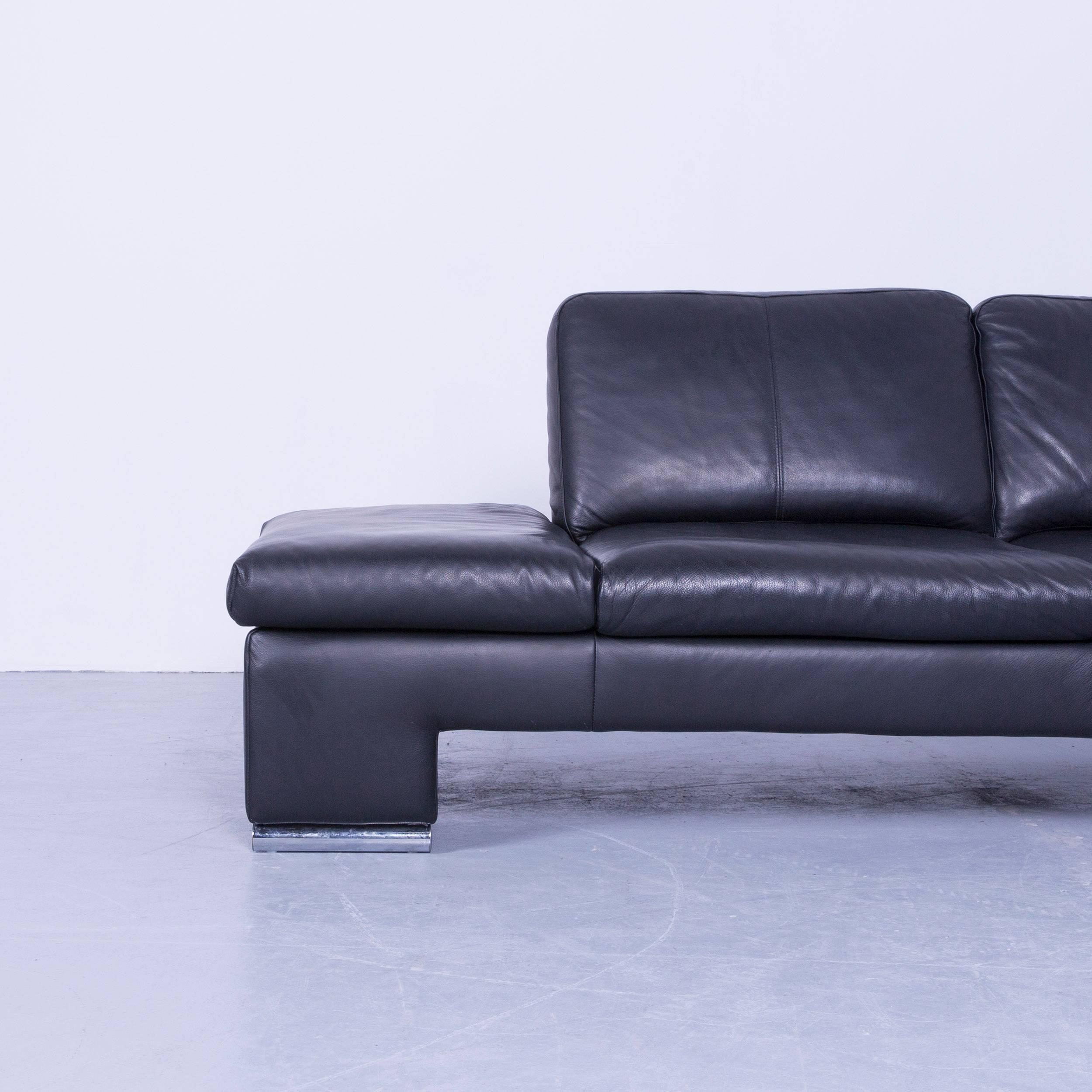 couch schwarz leder interesting sofa grau leder big sofa u form couch grau big sofa sam schwarz. Black Bedroom Furniture Sets. Home Design Ideas
