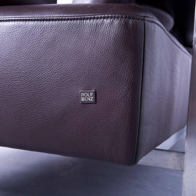 rolf benz dono designer corner sofa and footrest brown mocca leather couch modern at 1stdibs. Black Bedroom Furniture Sets. Home Design Ideas