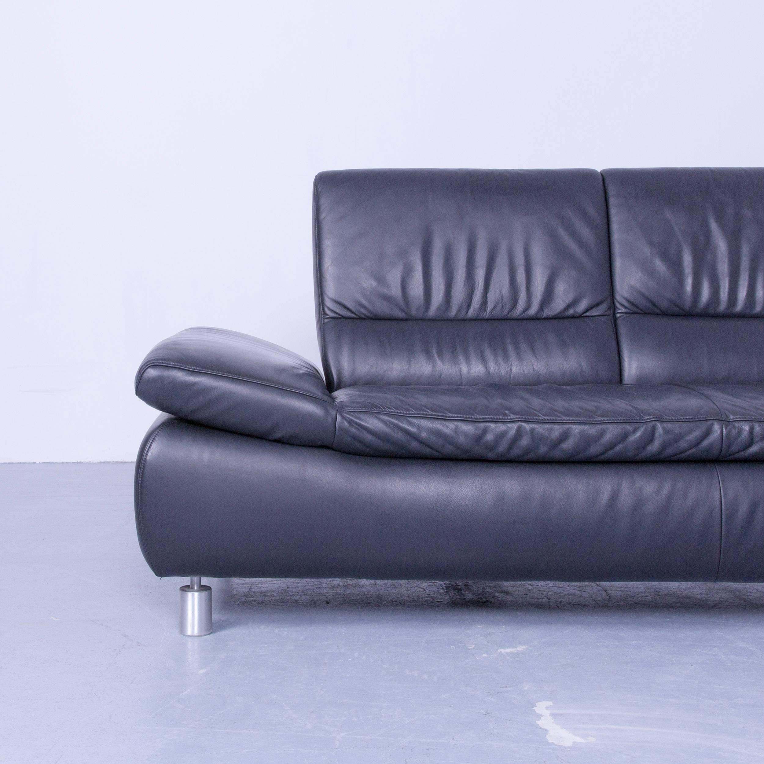 Black Original Koinor Designer Leather Sofa In A Minimalistic And Modern  Design Made For Pure Comfort