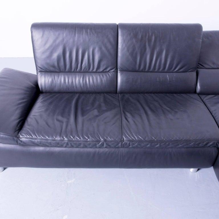 Koinor Designer Corner Sofa Set Incl. Stool Leather Black ...